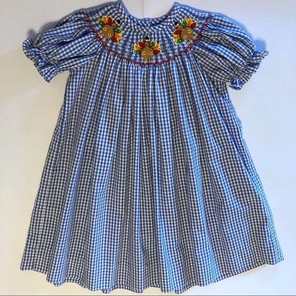 50c04d6b0 Classic Whimsy Dresses | Smocked Thanksgiving Turkey Dress 24 M ...